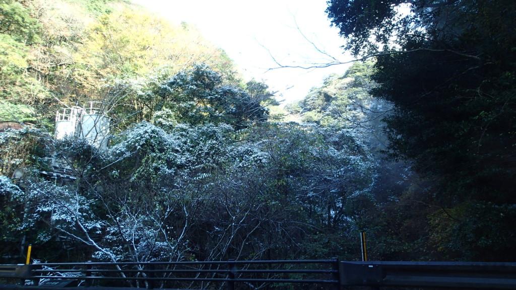 日陰には雪がありました。